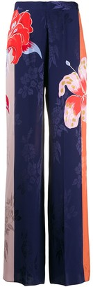 Etro Wide Leg Floral Pattern Trousers