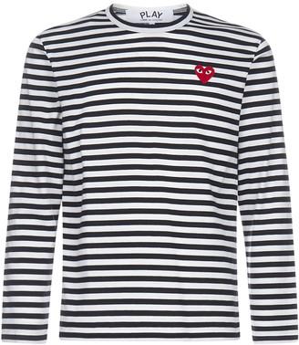 Comme des Garcons Striped Logo Patch Jumper