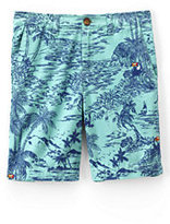Classic Toddler Boys Pattern Cadet Shorts-Evening Cobalt Pineapples