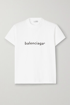 Balenciaga - Printed Cotton-jersey T-shirt - White