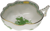 Herend Chinese Bouquet Green Deep Leaf Dish