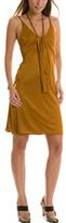 Slinky Drape Front Dress