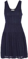 Joie Pruitt Crocheted Cotton Mini Dress