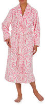 Jasmine Rose Printed Burnout Wrap Robe