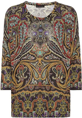 Etro Printed stretch-jersey top