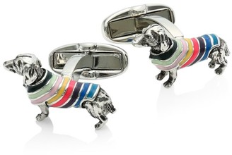Paul Smith Dog In Stripes Cufflinks