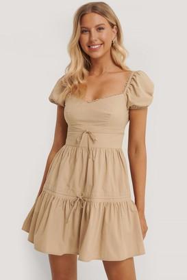Emma Ellingsen X NA-KD Tie Detail Mini Dress