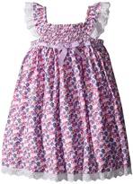 Us Angels Cotton Poplin & Eyelet Empire Smock Bodice Dress (Toddler/Little Kids)