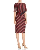 Max Mara Palato Asymmetric Stripe Dress