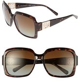 Tory Burch Women's 59Mm Polarized Sunglasses - Tortoise/ Brown