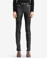 Lauren Ralph Lauren Leather Moto Pants