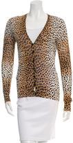 Dolce & Gabbana Leopard Print V-Neck Cardigan