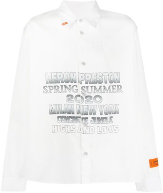 Heron Preston Cotton Logo Printed Shirt
