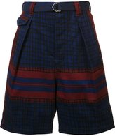 Sacai printed shorts - men - Cotton - 2
