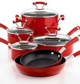 Circulon Closeout! Contempo Red Nonstick 10 Piece Cookware Set