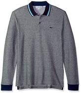 Lacoste Men's Holiday Long Sleeve Slubbed Pique Polo-Regular Fit