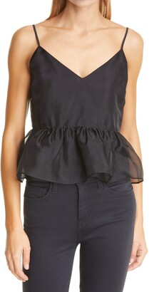 CAMI NYC The Valentine Cropped Silk Camisole