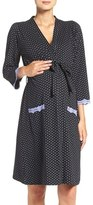Belabumbum Women's 'Dottie' Cotton Maternity Robe