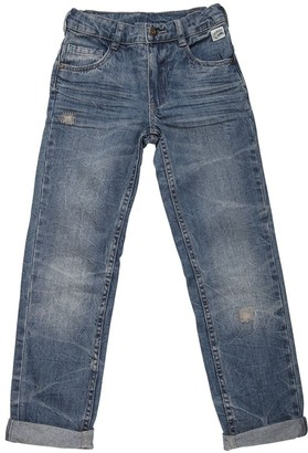Washed & Stitched Cotton Denim Jeans