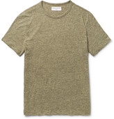 Officine Generale Mélange Cotton-jersey T-shirt - Green