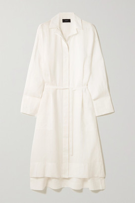 Joseph Daga Ramie Midi Shirt Dress - White