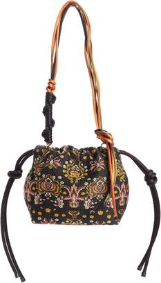 Dries Van Noten Small Jacquard & Leather Shoulder Bag