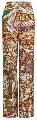 Moschino Baroque Print Trousers