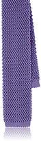Ralph Lauren Purple Label MEN'S TEXTURED KNIT SILK NECKTIE-PURPLE, NO COLOR