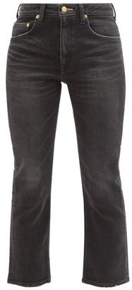 Tu es mon Trésor Rose Quartz Cropped Slim-leg Jeans - Black