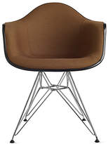 Design Within Reach Eames Upholstered Molded Fiberglass Wire-Base Armchair (DFAR)