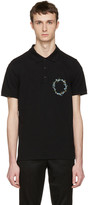 Givenchy Black Floral Crest Polo