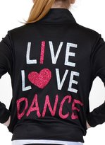 Stretch is Comfort Girl's Rayon Live Love Dance Warm Up Jacket