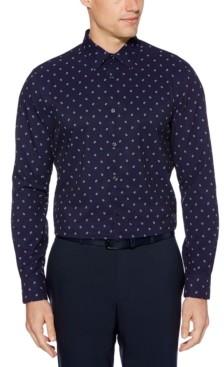 Perry Ellis Men's Slim-Fit Square-Print Shirt
