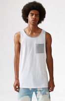 On The Byas Contrast Pocket White Tank Top