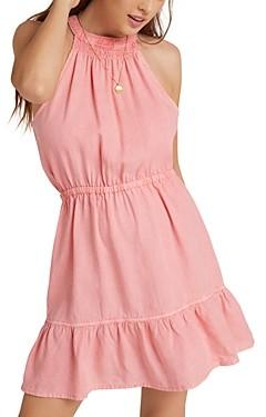 Bella Dahl Shirred Halter Dress