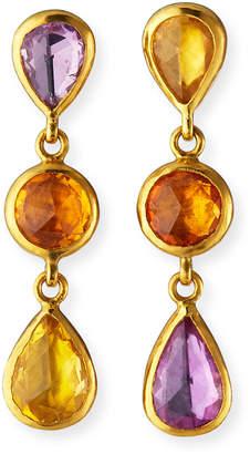 Gurhan One-of-a-Kind Elements Hue Triple-Drop Earrings