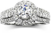 JCPenney MODERN BRIDE Modern Bride Signature 1 CT. T.W. Certified White & Color-Enhanced Blue Diamond Ring
