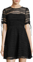 Tularosa Eden Lace Fit & Flare Dress, Black