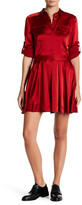 DKNY Long Sleeve Satin Shirt Dress