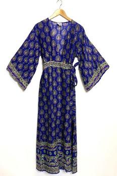 Patchouli Fair - Savanah Kimono Dress - S / Orange