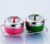 FSHFK Spic jar/Stainlss stl spic box/ th crut/ sasoning jars/Kitchn sasoning bottls/ salt shakr st