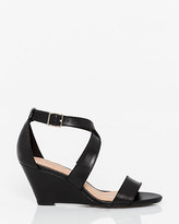 Le Château Leather Criss-Cross Wedge Sandal