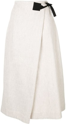 Rosetta Getty Contrast Wrap Skirt