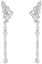 Vince Camuto Ear Climber Linear Clip Earrings (Rhodium/Crystal) Earring