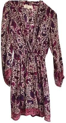 Natalie Martin Purple Silk Dress for Women