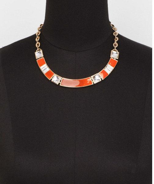 Express Short Enamel And Rhinestone Collar Necklace