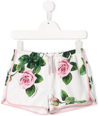 Dolce & Gabbana Rose Print Shorts