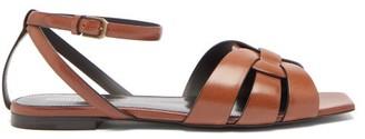Saint Laurent Tribute Leather Sandals - Tan