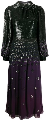 Temperley London Sequinned Ombre Dress