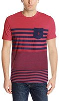 U.S. Polo Assn. Men's Engineered Stripe Crew Neck Pocket T-Shirt